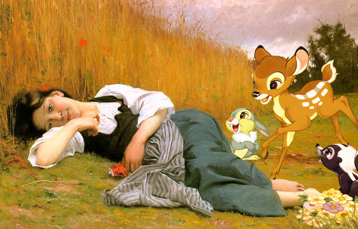 Rest At Harvest, By William Adolphe Bouguereau
