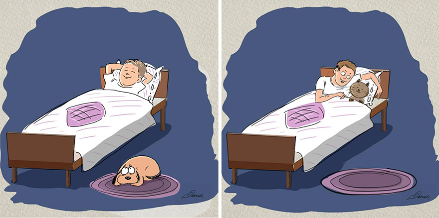 cats-vs-dogs-funny-illustrations-bird-born-8