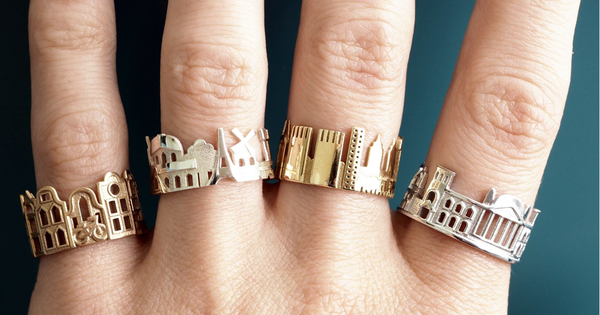 Architecture Rings Let You Wear Your Beloved Cities Wherever You Go