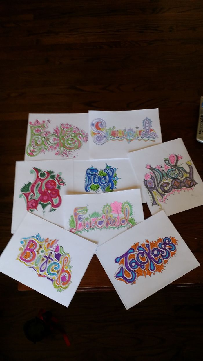 Colorful Language: An Adult Coloring Book Made By Katherine Wallace