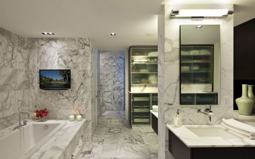 Contemporary Bathroom Marble Design