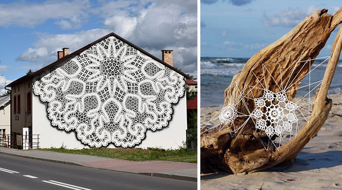 I Cover City Streets In Lace Street Art (Part 2)