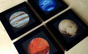 I'm Cross-Stitching The Solar System!