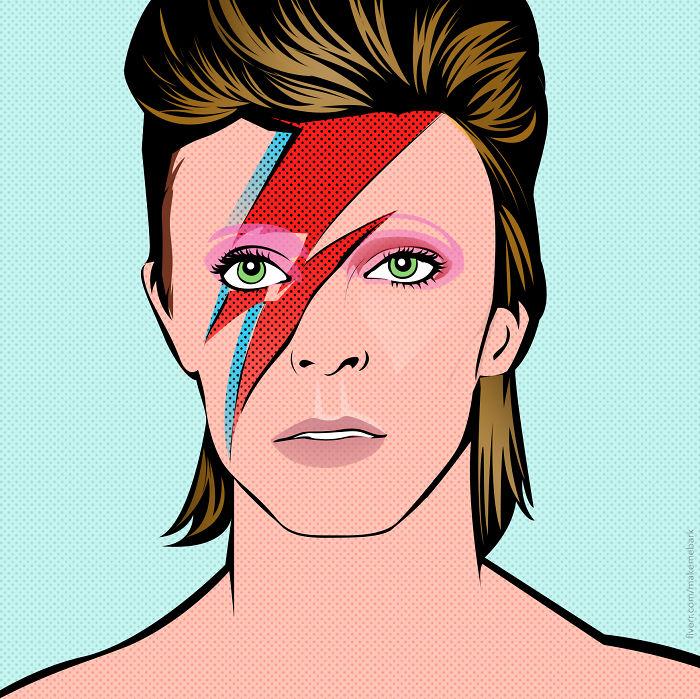 David Bowie In Pop Art Style