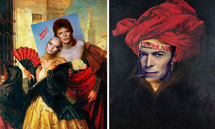 I Combine David Bowie's Album Covers With Classical Paintings