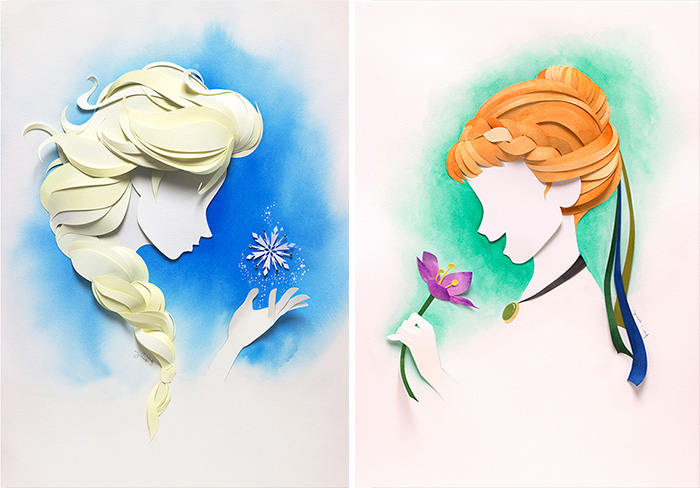 Artist Makes Disney Characters From Layers Of Paper