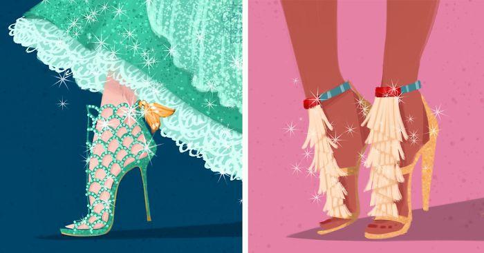 If Disney Ladies Wore Designer Shoes