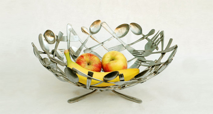 Silverware Fruit Bowl