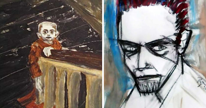 Spray Paint Mask >> Paintings By David Bowie | Bored Panda
