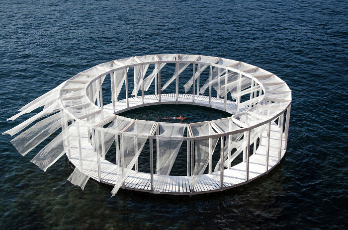 Self-Made Floating Island In Mediterranean Sea Makes You Feel Like In A New Isolated World