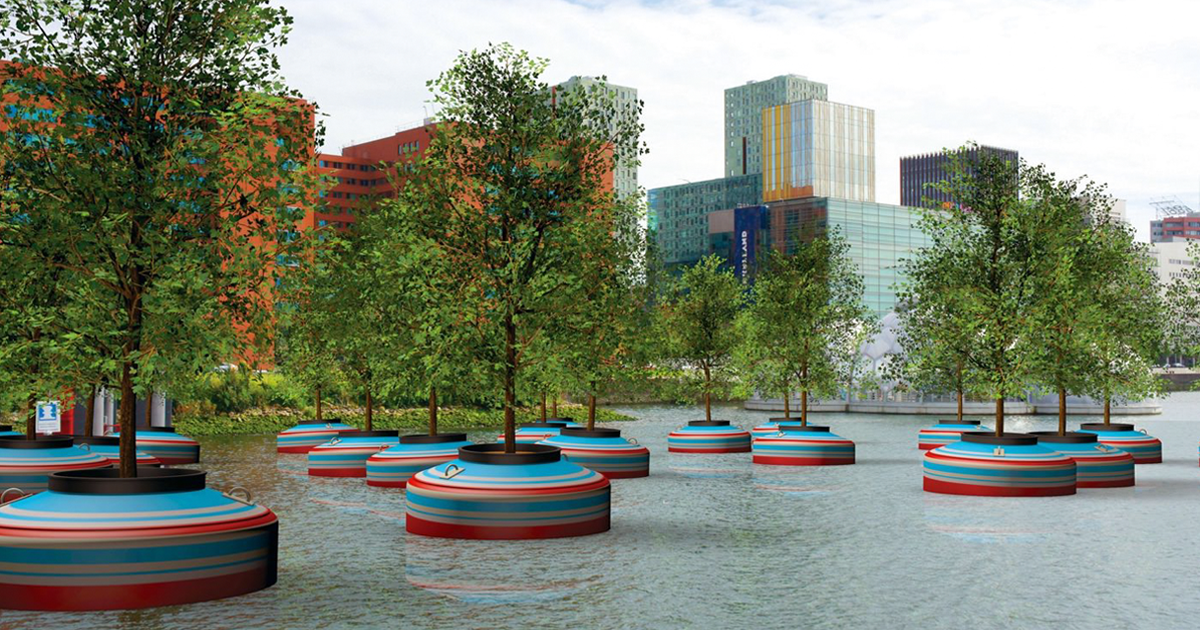 A Floating Forest To Be Installed In Rotterdam