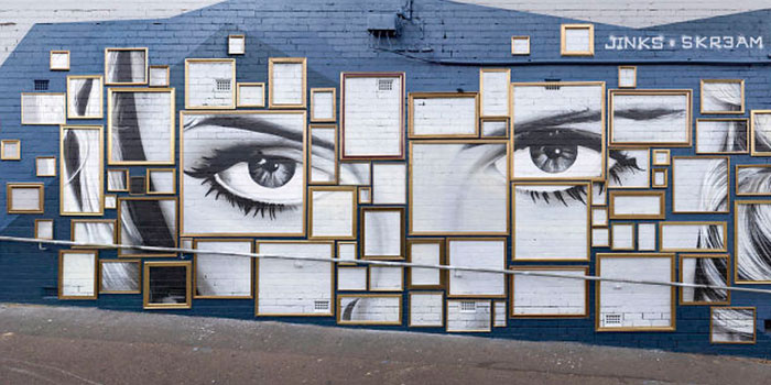 We Created A Mural Out Of Frames In Melbourne