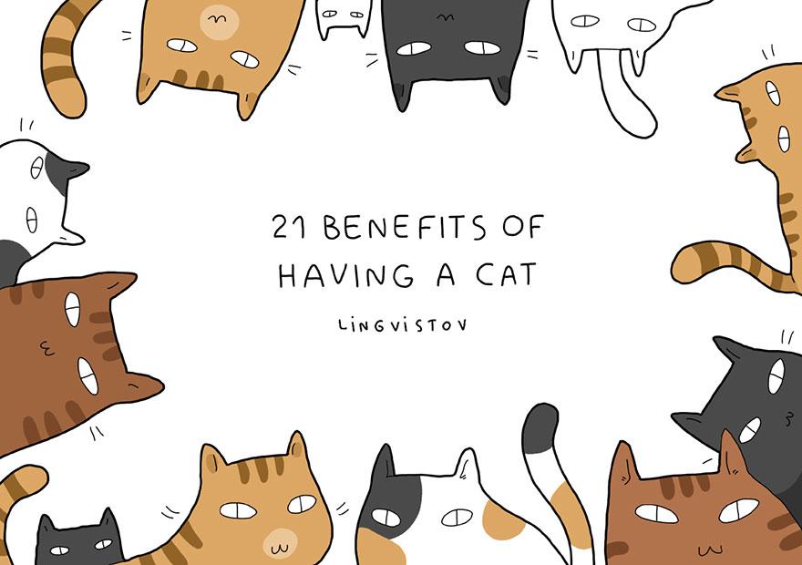 funny-illustrations-benefits-of-having-a-cat-lingvistov