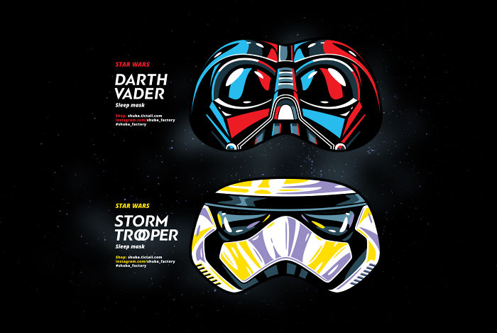 Gifts For Friends — Masks For Sleep! Darth Vader & Stormtrooper.