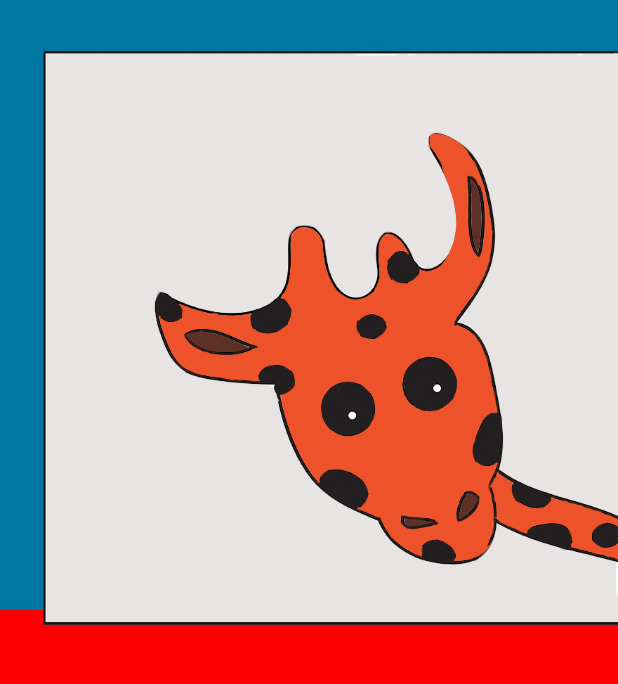 Giraffe In A Train