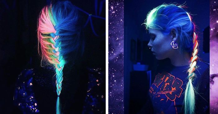 a64bf1a77957 Now Your Rainbow Hair Can Glow In The Dark Under Black Light