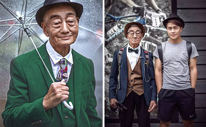85-Year-Old Farmer Transformed By Grandson Into Fashion Icon
