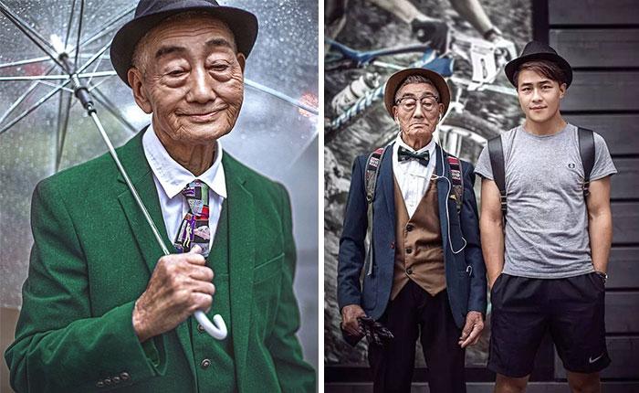 85-Year-Old Farmer Transformed By Grandson Into Fashion Icon