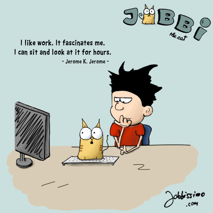 Great Minds Think Alike – Jobbi The Cat, On Human Quotes