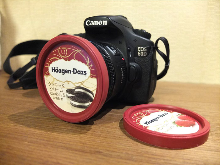 Häagen-Dazs Ice Cream Lid Is Actually A Perfect 72mm Lens Cap