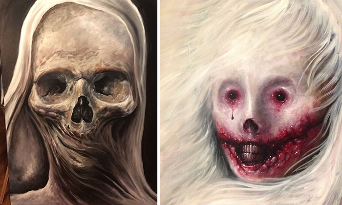 My Latest Horror Paintings Created With Oil