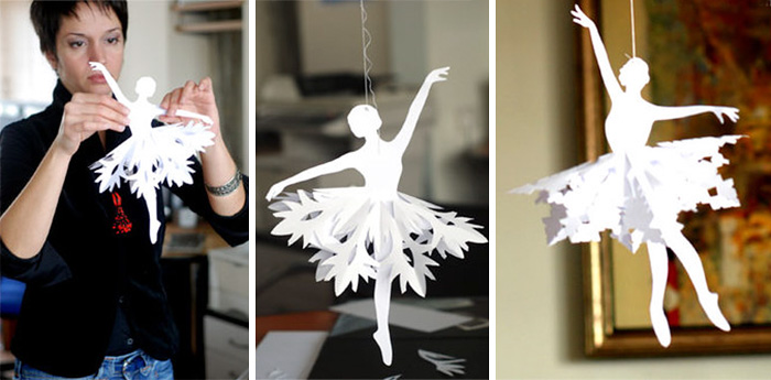 How To Make Paper Snowflake Ballerinas