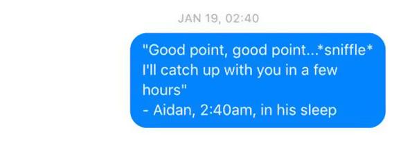 Husband Talks In His Sleep, Wife Texts It