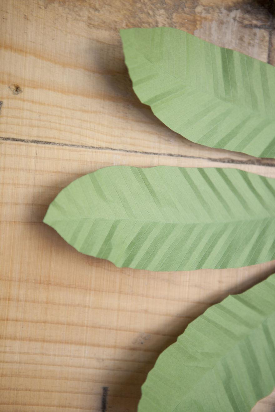 I Create Large Hand Cut Tropical Paper Leaves