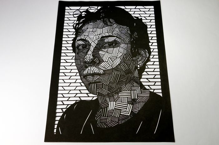 I Created My Self Portrait Using The Papercut Technique