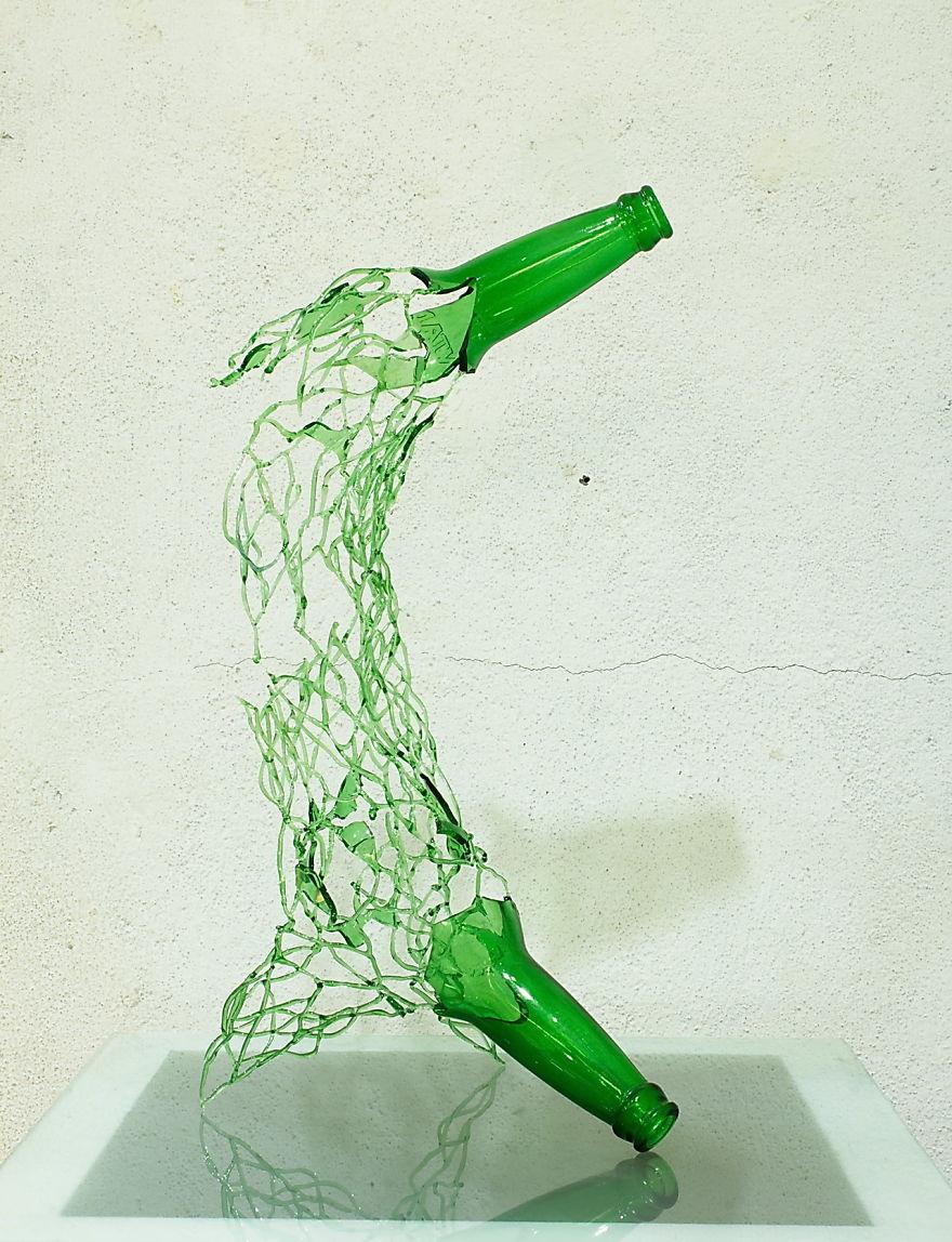 I Make Art Out Of Glass Waste Bored Panda