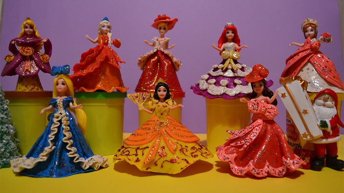 I Made New Play Doh Dresses For Disney Princesses