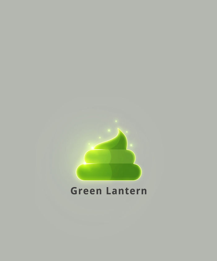 Green Lantern (Glowing Poop)