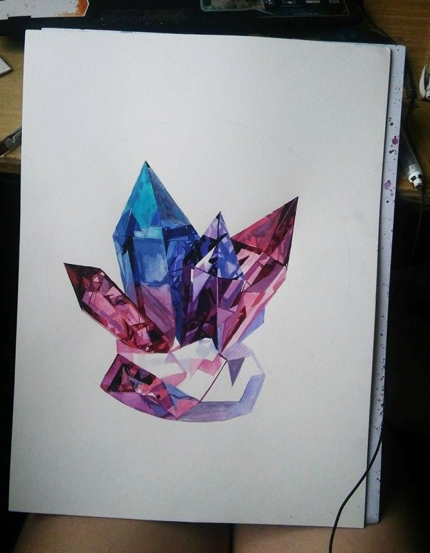 Paintings Using Crystals
