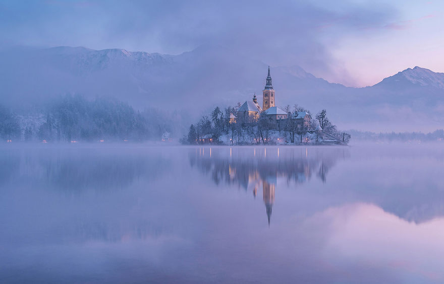 I Photographed Lake Bled On A Fairytale Winter Morning