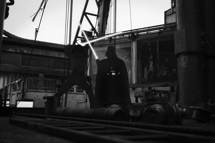 I Recreated Star Wars At My Work, An Offshore Drilling Rig