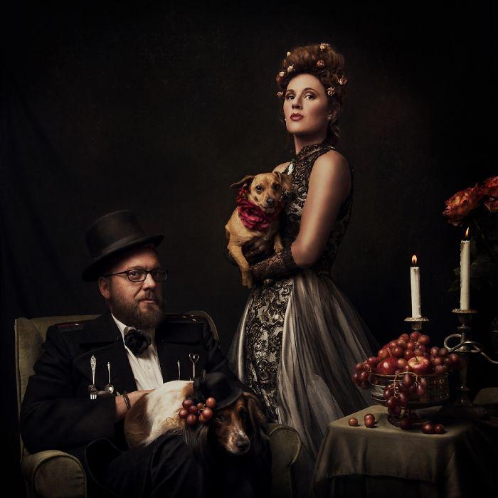 I Took Portraits Of The Van Schoor Family Garbed In The Baroque Style