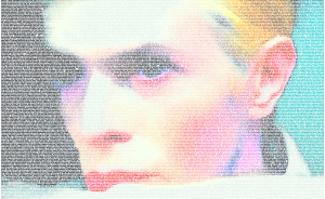 I Used 20,961 Words To Create A Typographic Portrait Of David Bowie