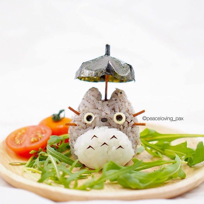 Totoro Under His Umbrella