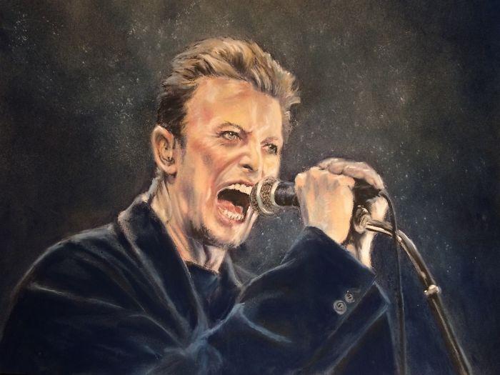 Bowie In Chalk Pastels