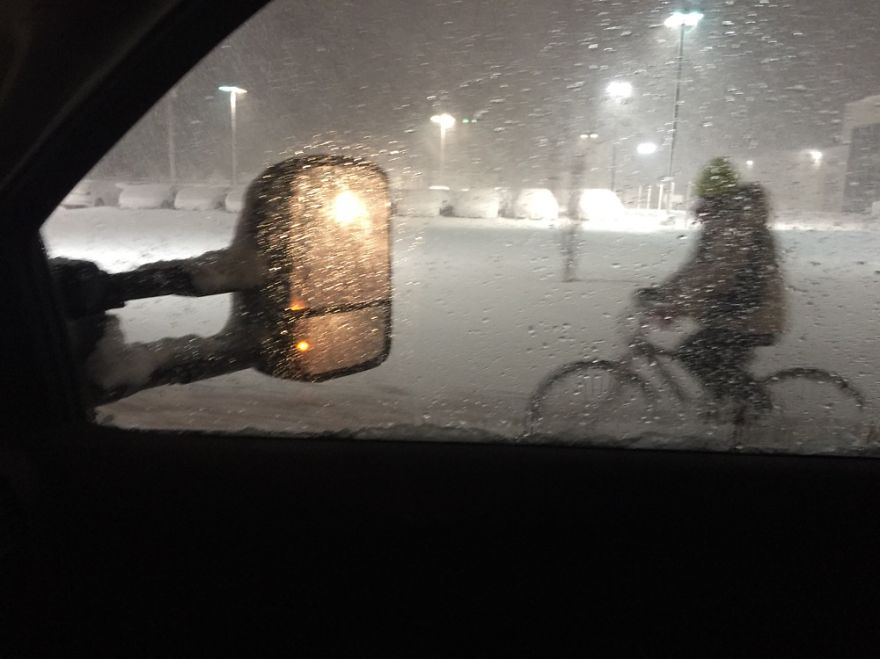 I've Been Plowing For 12 Hours On Cape Cod Massachusetts When He Rode By...w/ 16 Inches Of Snow