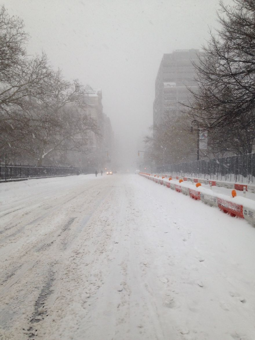 When Second Avenue, One Of The Busiest Streets In Nyc, Looked Deserted.
