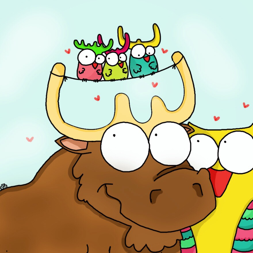 The Moose And His Family!
