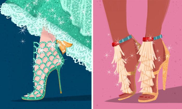 If Disney Girls Wore Designer Shoes