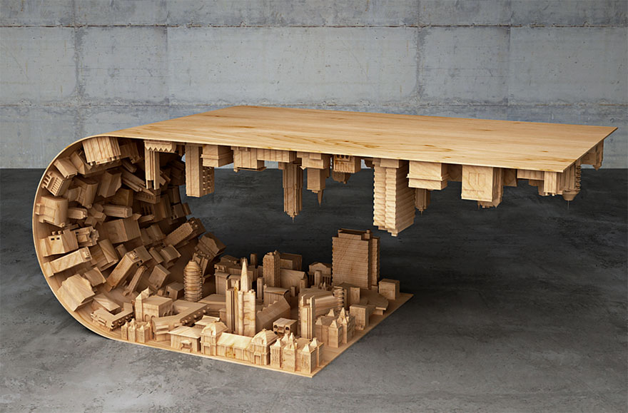Inception-Inspired Coffee Table Bends A City In Your Living Room ...