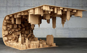 Inception-Inspired Coffee Table Bends A City In Your Living Room