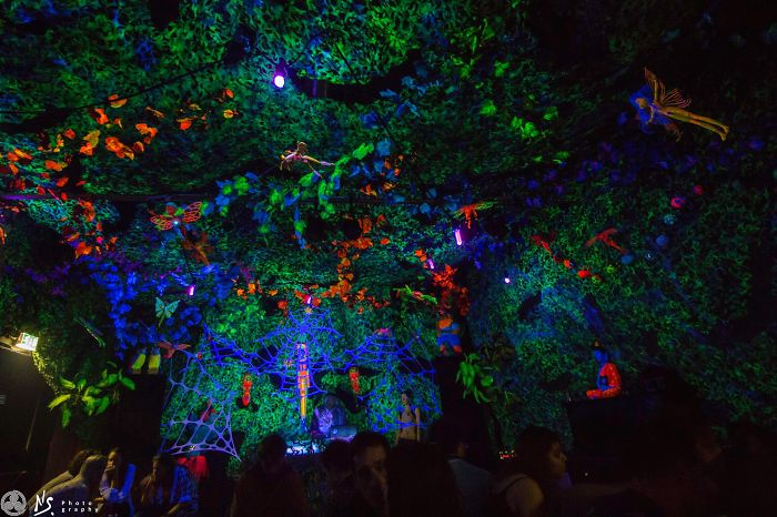 Inspired By The Beauty Of Nature We Create Magical Fluorescent Forests Indoors