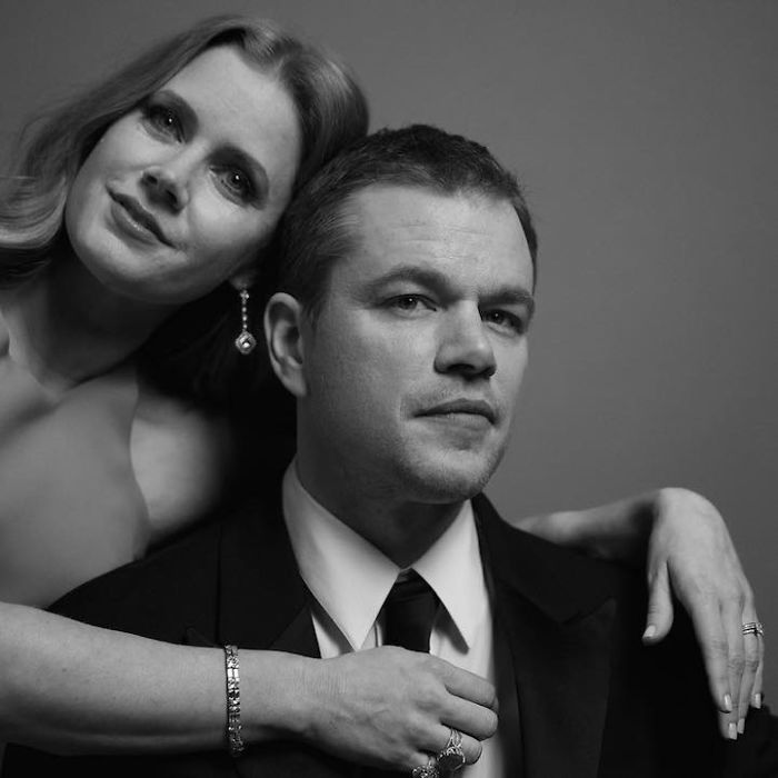 Amy Adams Presenter And Matt Damon Best Actor In A Motion Picture Comedy