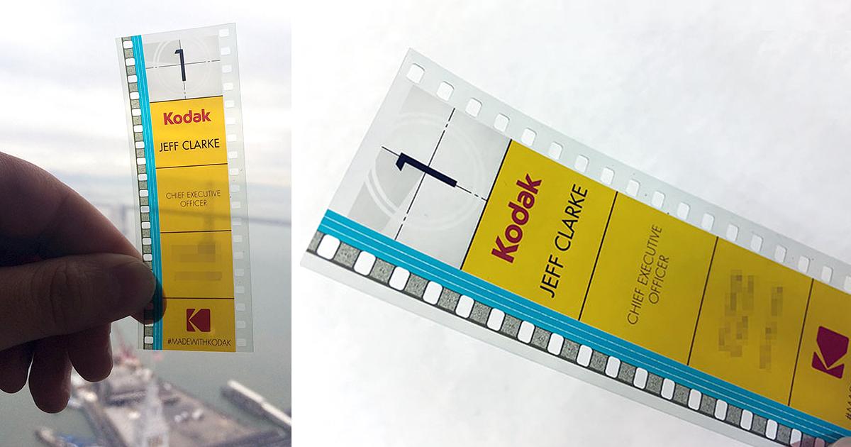 Kodak\'s CEO Uses 35mm Film As A Business Card | Bored Panda