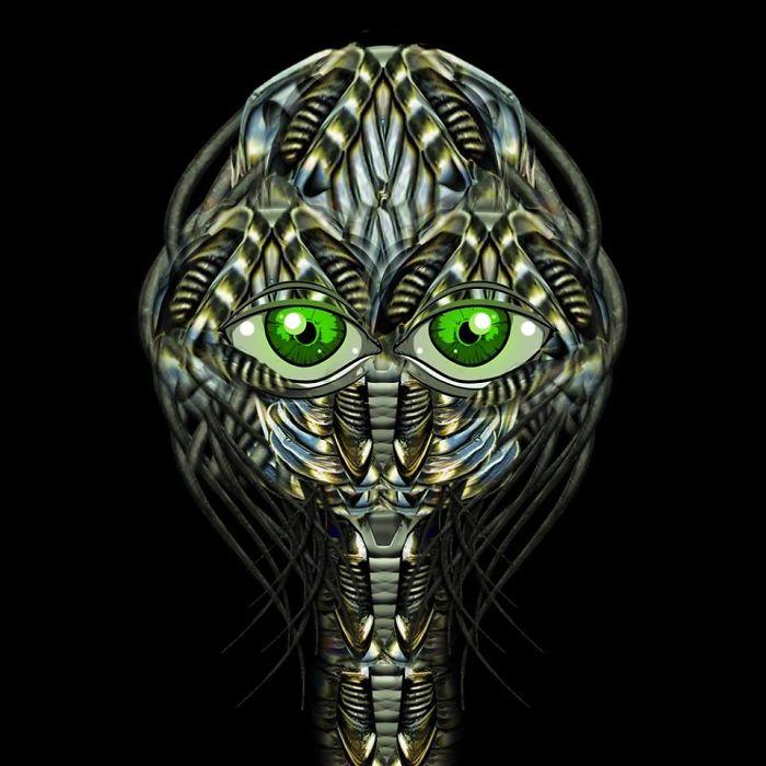 Little Green Eye Alien