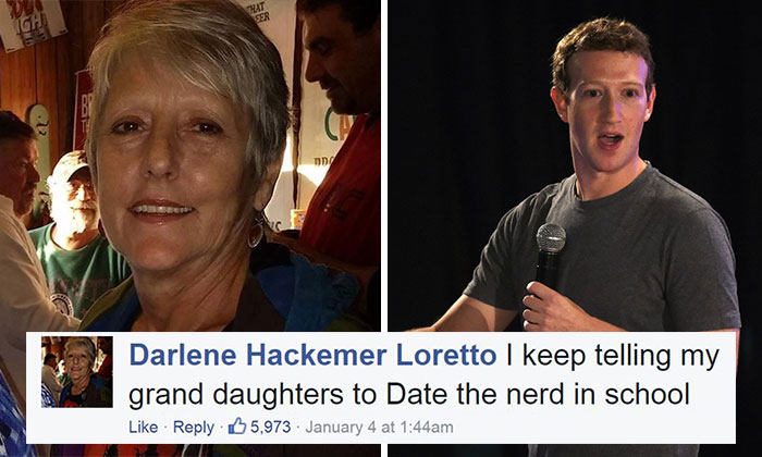 Mark Zuckerberg Perfectly Replies To A User's Comment Saying That Women Should Date A Nerd